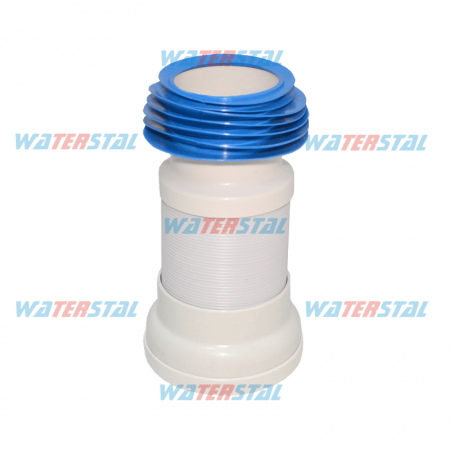 Reinforced toilet drain for the toilet, length 558 mm