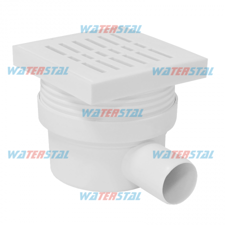 Ladder 155*155 mm, side drain, D 50, with filter, plastic